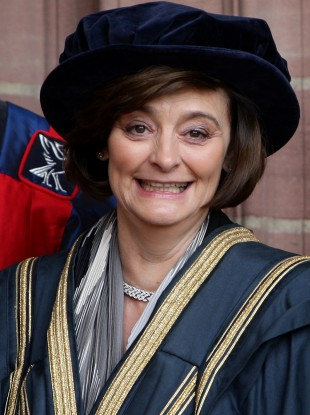 Cherie Blair outside Liverpool's Anglican Cathedral last July.