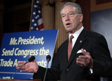 Charles Grassley has placed a hold on legislation which could offer over 10,000 visas to Irish people - including those already undocumented and living in the US.