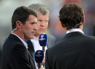 Roy Keane: currently working as an ITV pundit.