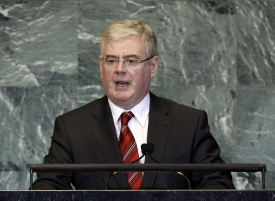 Gilmore addressing the UN General Assembly last September