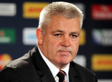 Gatland is expected to wait until tomorrow to name his team.