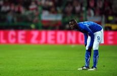 Balotelli's Euro 2012 prospects take nosedive
