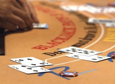 File photo of a blackjack game