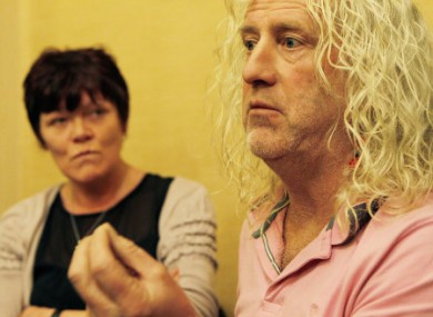 TDs Joan Collins and Mick Wallace at a press conference in December.