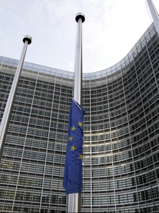 Flying high? The EU economy shrank for the first time in 30 months at the end of 2011.