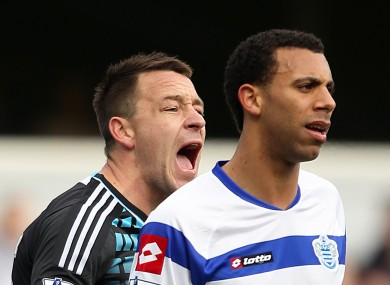 John Terry and Anton Ferdinand during last Saturday's FA Cup match between QPR and Chelsea at Loftus Road.