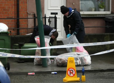 Forensics officers at the scene where Mawere's body was discovered