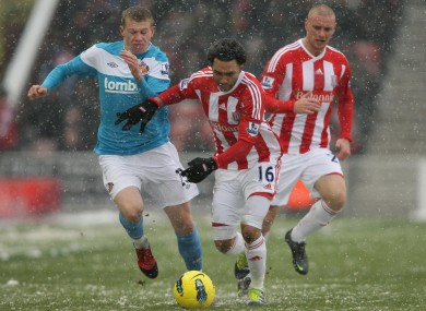 James McClean battles for possession with Jermaine Pennant on Saturday