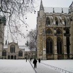London's Westminster Abbey this morning. (Katie Hodge/PA)