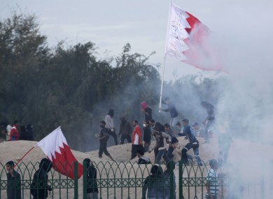 Clashes in Bahrain yesterday afternoon