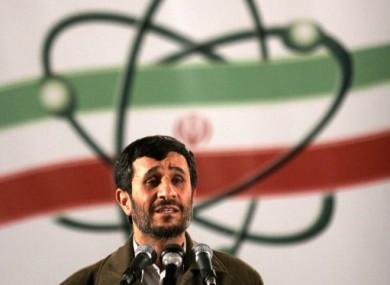 File photo of Iranian President Mahmoud Ahmadinejad.