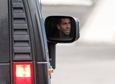 Rear-view: Roberto Mancini does not want to talk about Carlos Tevez for the next three months.