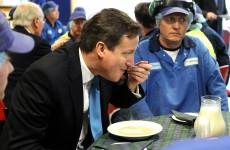 Caption competition: David Cameron eats porridge in Scotland