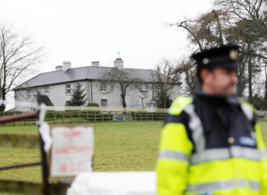 Gardaí at the scene of one of the discoveries at Ballycormack, Bagnalstown.