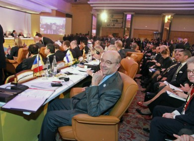 Delegates at the meeting in Tunis today