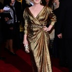 Meryl Streep in gold. Not so subtle.