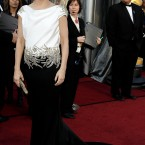 Sandra Bullock also wore Marchesha. Another one that is more stunning at the back. 