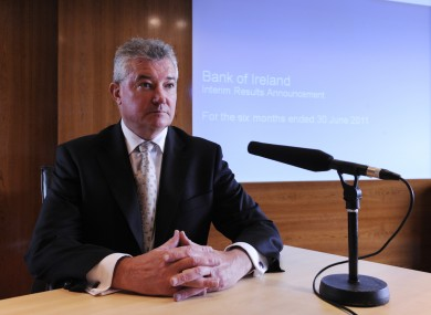 Bank of Ireland chief executive Richie Boucher said 2011 was a