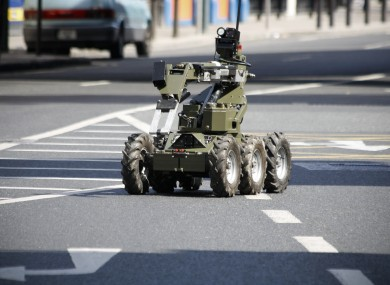 File photo of an automated vehicle used by the Army Bomb Disposal Unit.