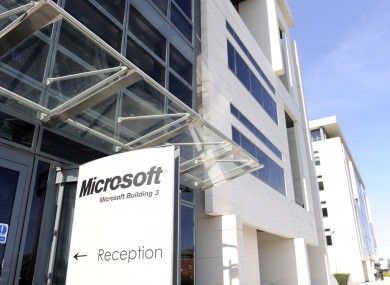 Microsoft's premises at Sandyford industrial estate: the software giant is expanding its data centre in Dublin, creating 400 construction jobs.