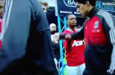 Suarez refuses to shake Evra's hand, as Fergie urges Liverpool to 'get rid of him'