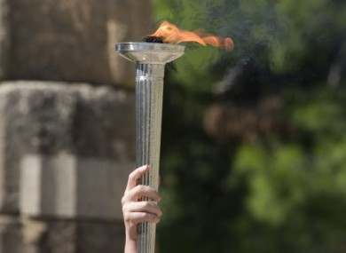 The Olympic flame at Olympia.