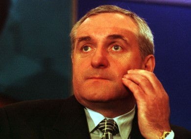 Bertie Ahern pictured in 1997