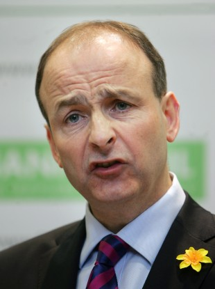 Micheál Martin at a press conference earlier today.