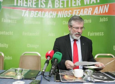 File photo of Gerry Adams