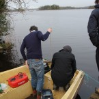 The team prepare to row across to the Waterways estate to begin planting saplings. (Image: Serena Brabazon)