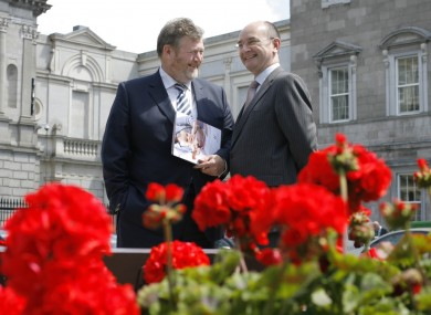 Health Minister James Reilly and HSE chairman Frank Dolphin (File photo)