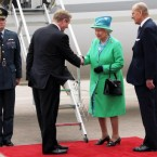 Queen Elizabeth II becomes the first British monarch to visit the Republic of Ireland. (Maxwells/PA Wire)