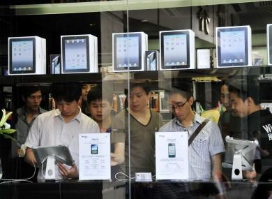 An Apple store in Shenzhen