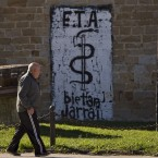 Basque separatist armed group ETA announces a ceasefire in October. (AP Photo/Alvaro Barrientos/PA Images)