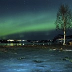 The aurora borealis, or Northern Lights, are seen near the city of Trondheim, Norway on 23 January this year. (AP Photo/Emil Bratt Borsting)