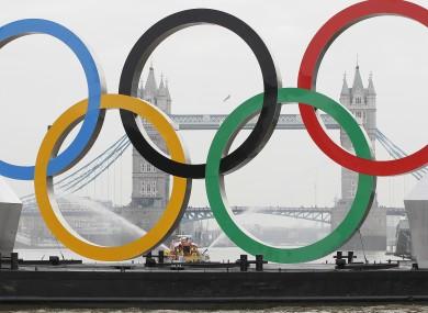 The London Olympics will take place between July 27 and August 12.