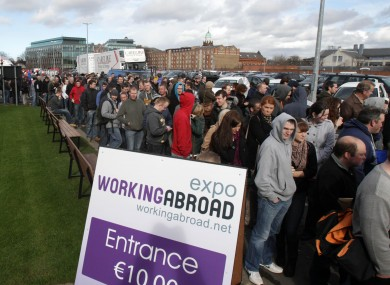Queues for entry to the Expo at the RDS yesterday.