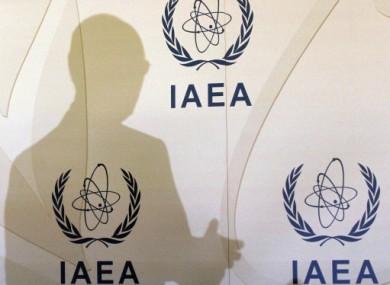 IAEA Director General Yukiya Amano of Japan addresses a press conference yesterday.