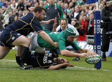 Best crosses over for Ireland's opening try against Scotland last week.