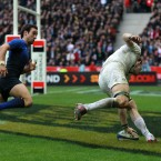 This back row is unbalanced and all beacuse of Croft's astounding pace to score what proved the winning try for this once-makeshift looking England side.<span class=
