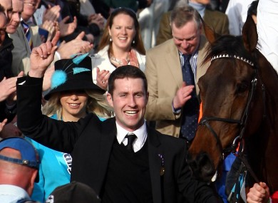 Stable lad Conor Murphy who has won around £1million in an accumulator bet on five of the yard's runners at the Cheltenham Festival this week.