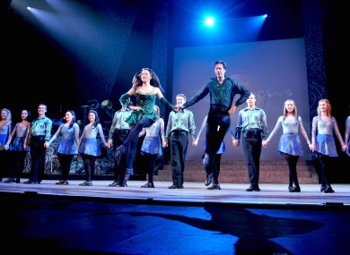 Riverdance performance on stage at Bristol Hippodrome theatre as part of the productions farewell UK tour in 2009