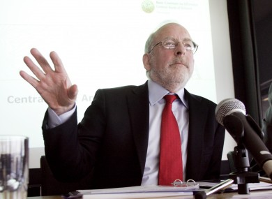 Patrick Honohan had reportedly told TDs that while he would attending a meeting, he was not available to attend before the first promissory note repayment was due.