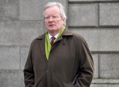 Judge Alan Mahon arriving at the Four Courts in Dublin last week. He has chaired the tribunal since 2003.