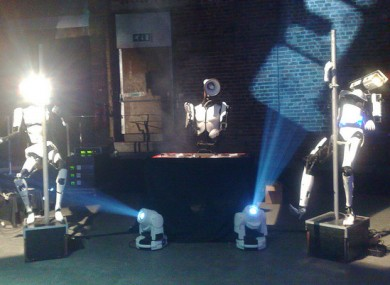 The pole-dancing robots featured at another exhibition two years ago.