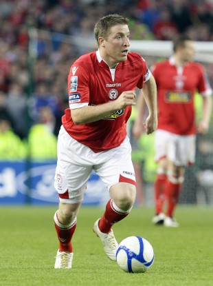 Hughes in action for Shels.