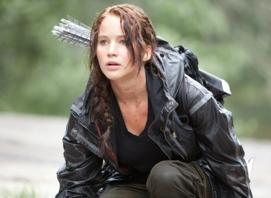 Jennifer Lawrence as Katniss Everdeen in a scene from The Hunger Games