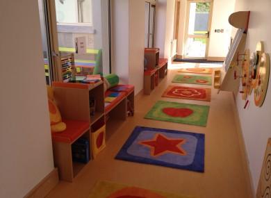 Inside the new building constructed for Teach Tearmainn
