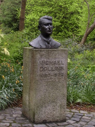 A bust of Michael Collins in Merrion Square