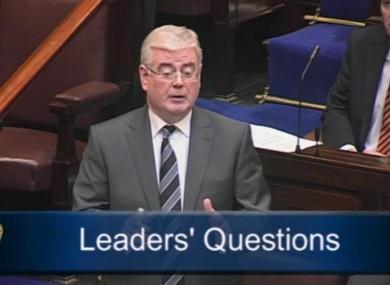 The Tánaiste speaking in the Dáil this morning.